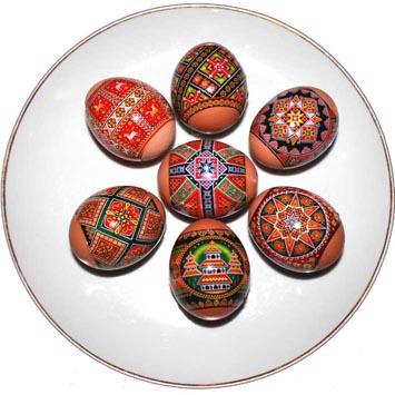 Decorations thermocollantes pour des oeufs de Paques , Traditionnels 1